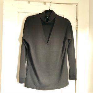 Missguided Black Choker Sweatshirt